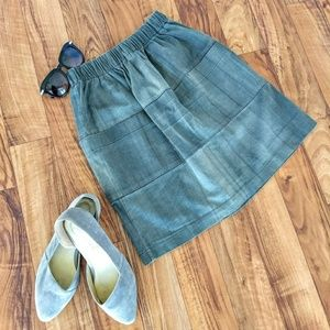 HOKO designers gray skirt with pockets